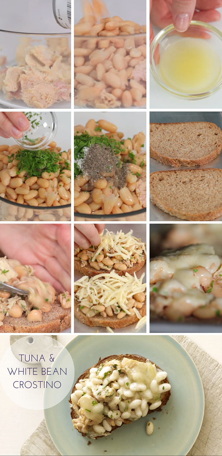 Tuna & White Bean Crostino Recipe