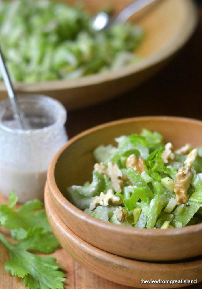 Celery Salad with Walnut Vinaigrette