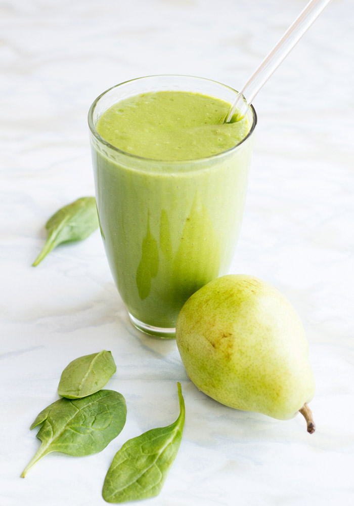 Pear and Spinach Smoothie
