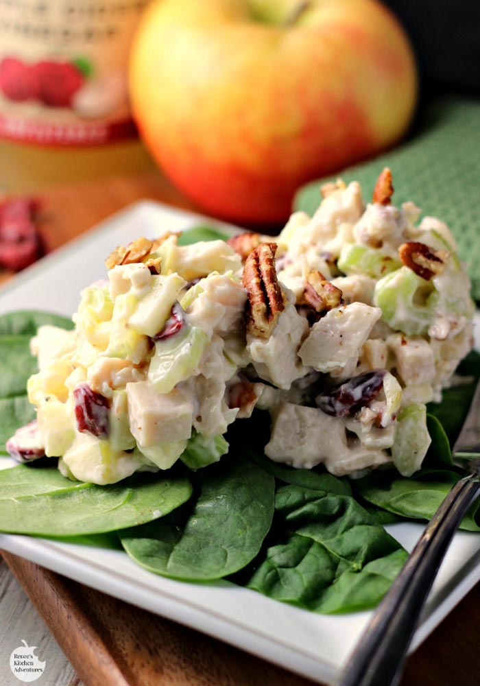Turkey Apple Cranberry Pecan Salad