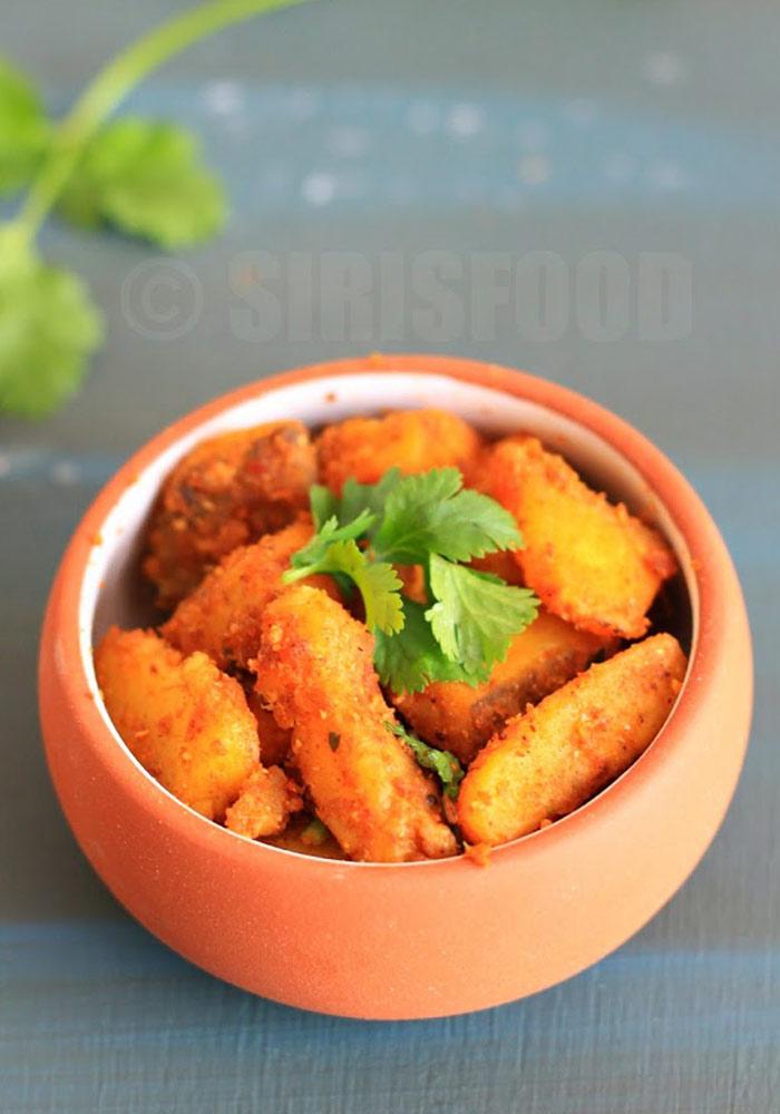 Aratikaya VepuduRaw Banana Fry