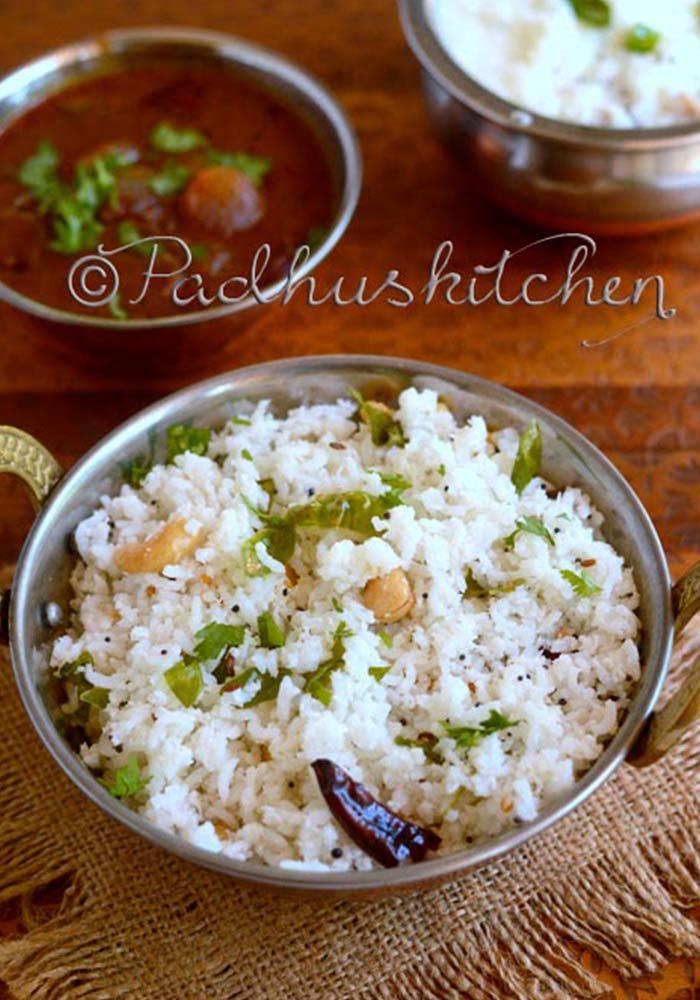 Coconut Rice Thengai Sadam