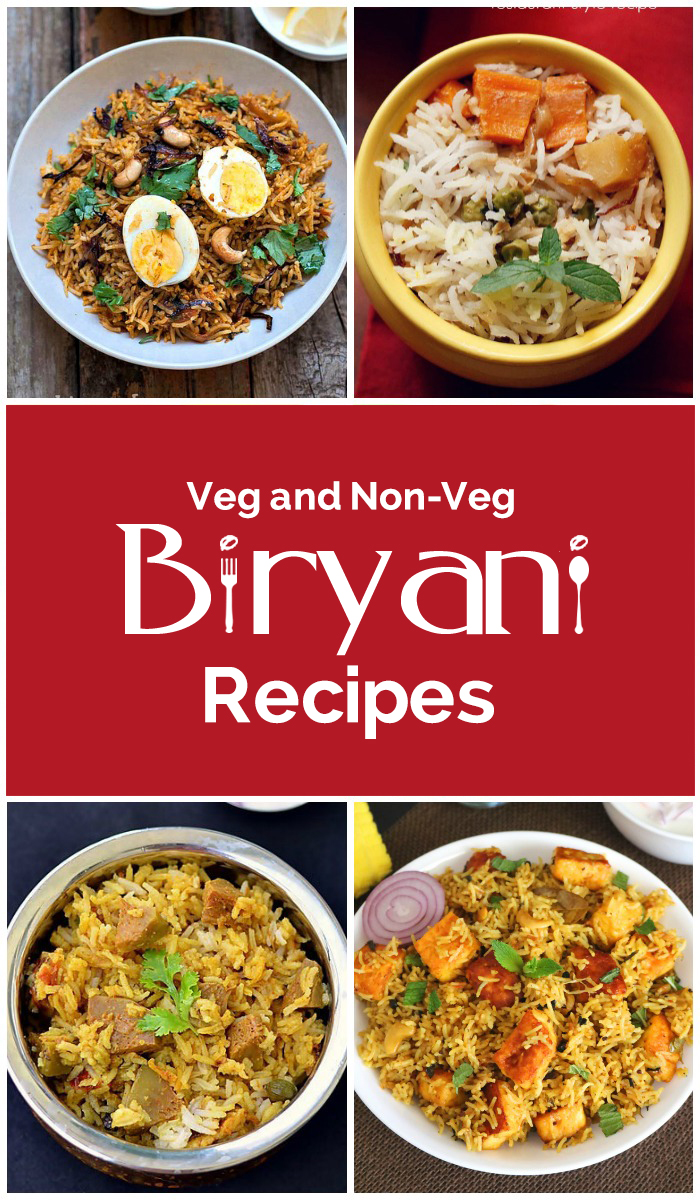 Easy Veg and Non-Veg Biryani Recipes
