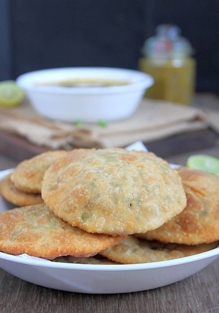 Green Peas Kachori and Alu Sabzi