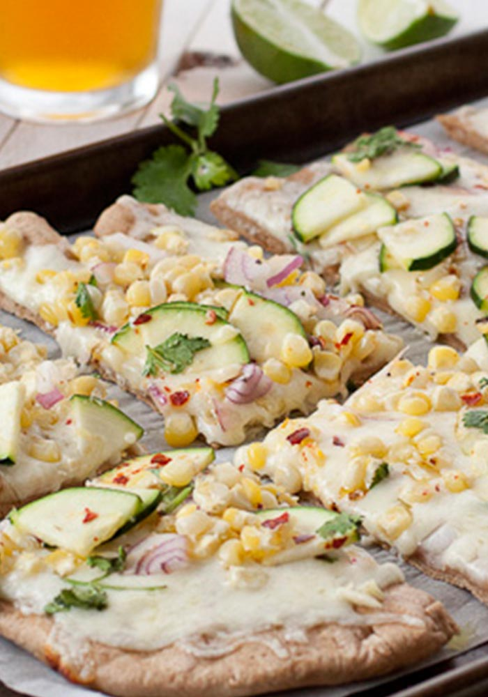 Grilled Corn Pizza