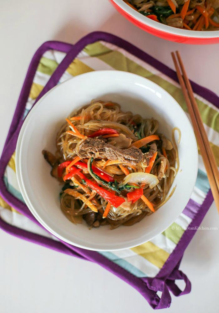JapchaeKorean Glass Noodles Stir Fry