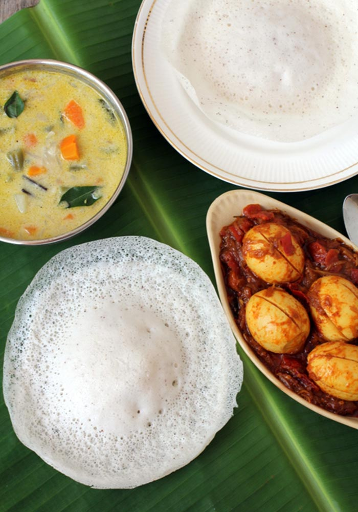 25 popular indian breakfast recipes for Appam and chicken stew kerala cuisine