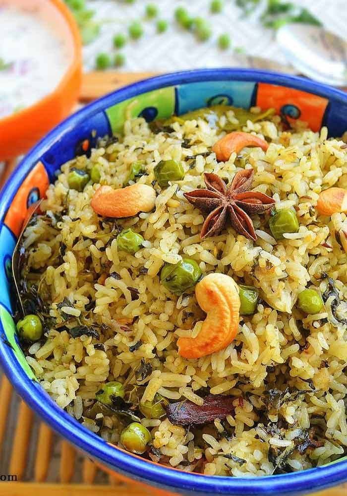 Methi PulaoFenugreek Rice