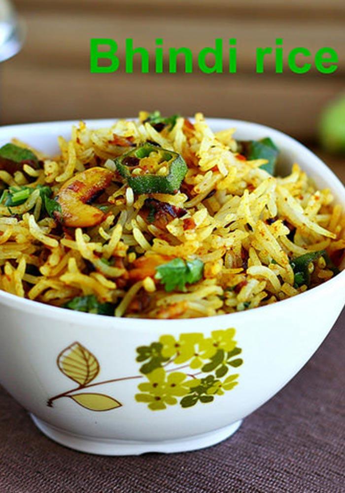 Okra Rice Bhindi Rice