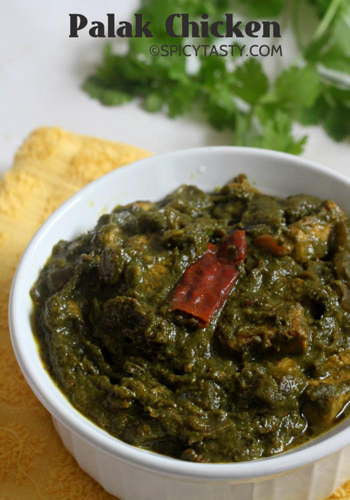 Palak ChickenChicken & Spinach Curry