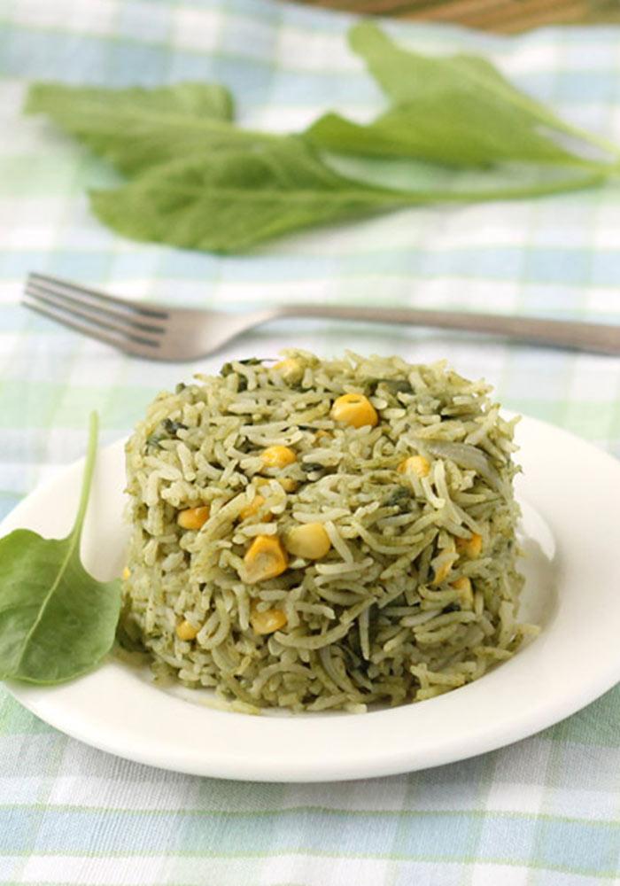 Palak PulaoSpinach Rice