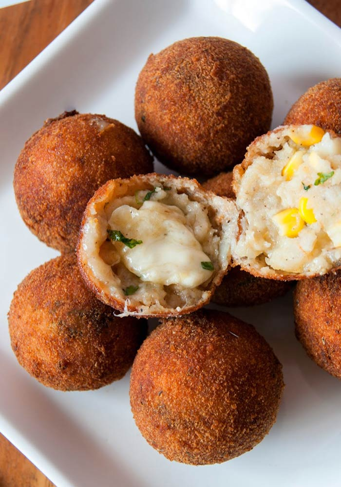 Paneer Potato Sweet Corn Balls