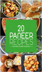 Top 20 Paneer Recipes for Main Course and Snacks