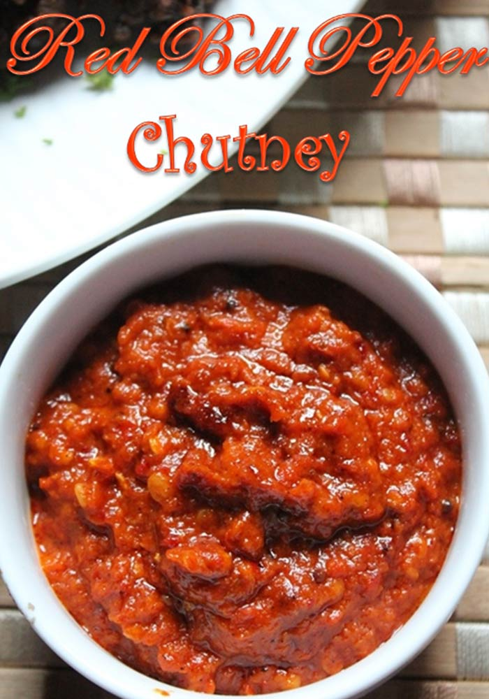 Red Capsicum ChutneyRed Bell Pepper Chutney