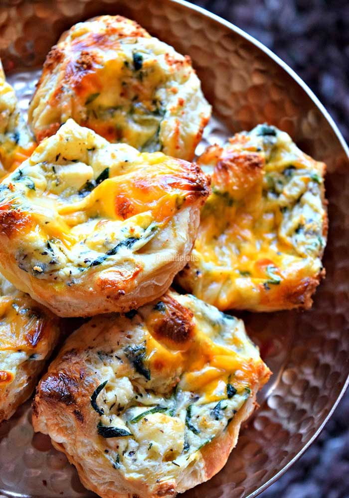Spinach and Paneer Puff