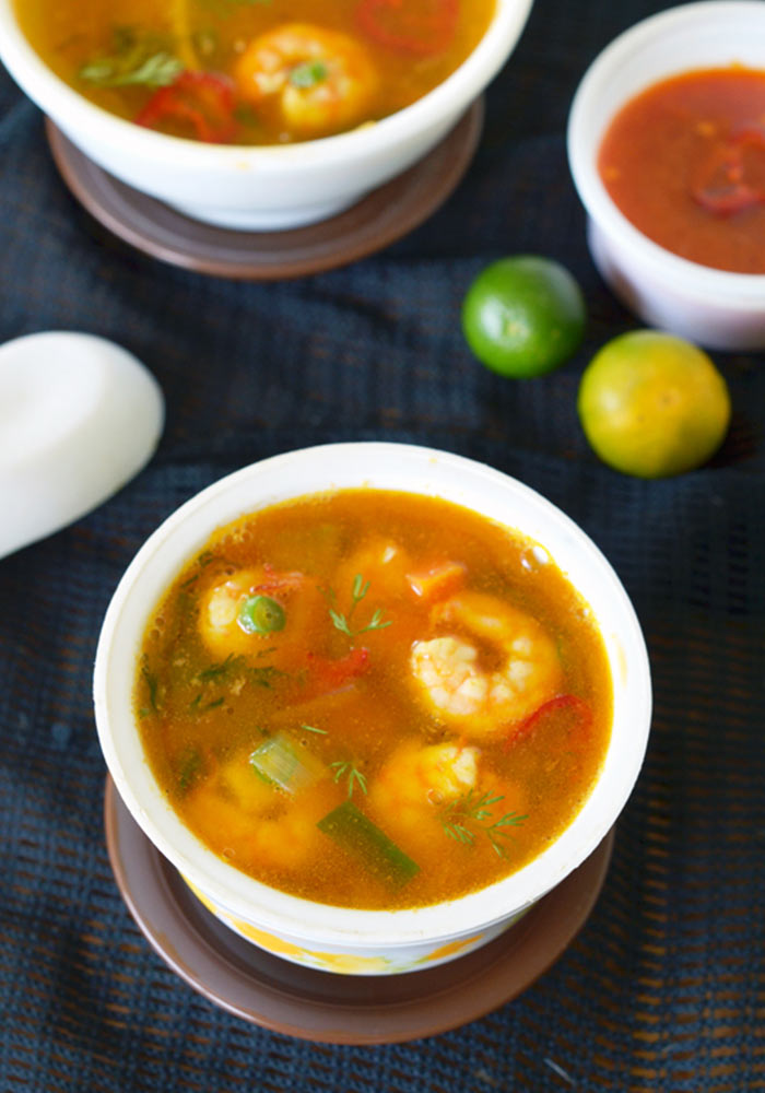 Tom Yum Goong SoupThai Prawns Hot and Sour Soup