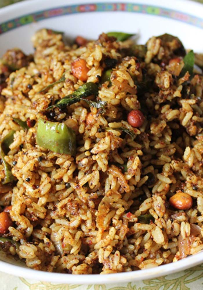 Vangi bath Spiced Up Brinjal (Eggplant) Rice