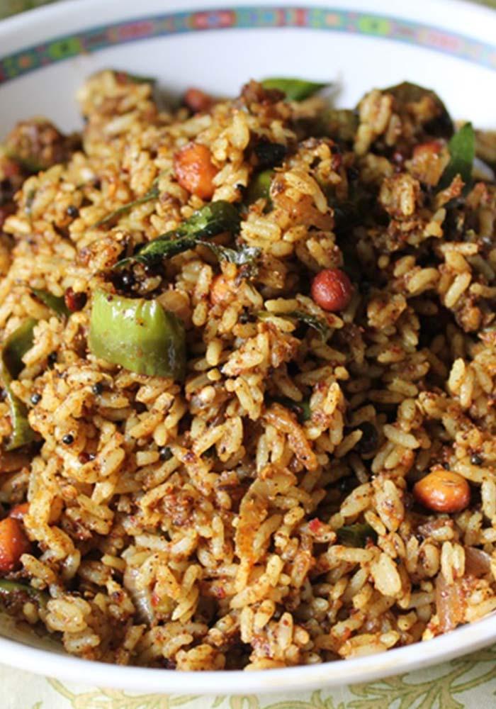 Vangi bath Spiced Up Brinjal (Eggplant) Rice
