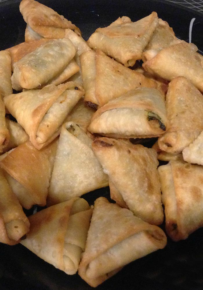 Spinach and Potato Samosa