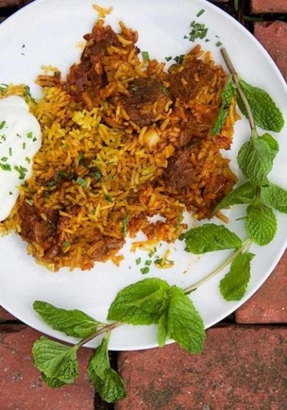 Indian Lamb Biryani