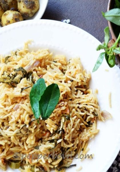 Methi BiryaniFenugreek Leaves Biryani